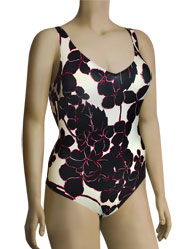 Anita Exotic Black Carina One Piece Swimsuit 7793 - Anita
