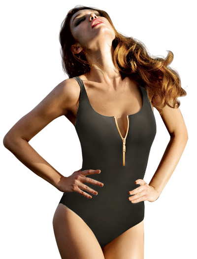 Anita Jungle Flair Elouise One Piece Swimsuit 7742 - Olive Green