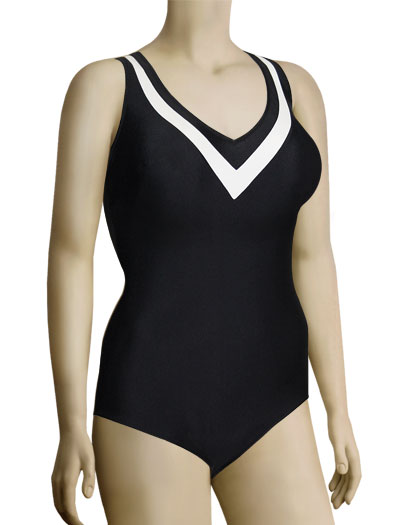 Anita Lolita One Piece Bathing Suit 7317 - Black