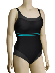 Anita Sea Gym Fanny One Piece Swimsuit 7703 - Black