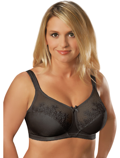 Aviana Embroidered Soft Cup Bra 2356 - Black
