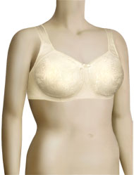 Aviana Floral Jacquard Soft Cup Bra 2353 - Candlelight