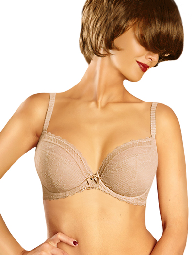 Chantelle C Chic Sexy Plunge Underwire Bra 3641 - Perfect Nude