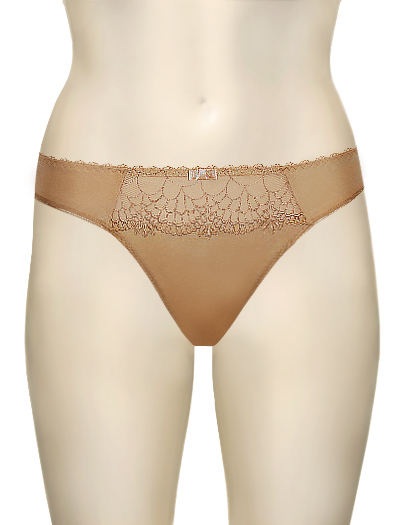 Chantelle Icone Basic Tanga 3859 - Toffee