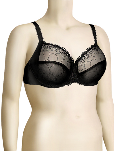 Chantelle Icone Three-Part Cup Bra 3851 - Electric Black