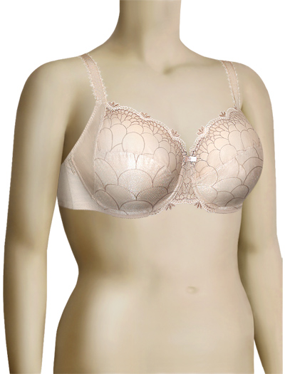 Chantelle Icone Three-Part Cup Bra 3851 - Skin / Rose