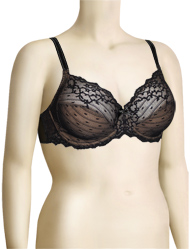 Chantelle Rive Gauche 3 Part Cup Underwire Bra 3281 - Black