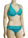 Cleo Panache Betty Underwire Halterneck Bikini Top CW0034 - Aquamarine