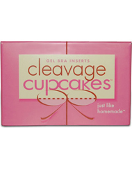 Commando Cleavage Enhancing Bra Insert Cupcakes - Clear