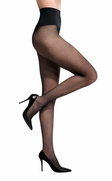 Commando Dig-Free Luxury Fabulous Fishnet Legwear HFNT - Black
