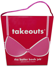 """Commando Takeouts Breast Enhancers """"The Better Boob Job"""" - Clear"""
