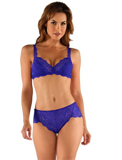 Cosabella Thea Wireless Lace Bra THEAZ1301 - Ultra Blue