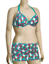 Curvy Kate Birds Of Paradise Halterneck Bikini Top CS1421 - Aqua