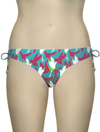 Curvy Kate Birds Of Paradise Mini Brief CS1445 - Aqua