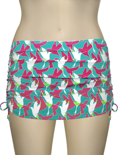 Curvy Kate Birds Of Paradise Swim Skirt CS1455 - Aqua
