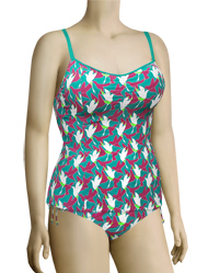 Curvy Kate Birds Of Paradise Tankini Top CS1406 - Aqua