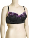 Curvy Kate Carmen Padded Balcony Bra SG2201 - Black / Berry