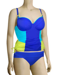 Curvy Kate Ocean Drive Padded Balcony Tankini Top CS2416 - Electric