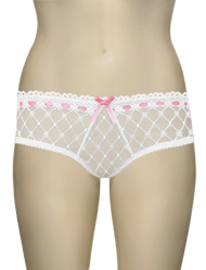 Curvy Kate Portia Short CK4003 - White / Pink