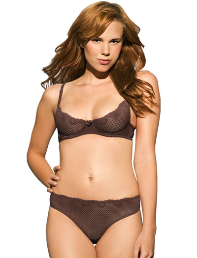 Duet Timpa Lace Demi Bra 16449 - Chocolate