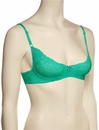 Timpa Duet Lace Demi Bra 16449 - Pool Green
