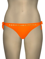 Eda Bijou Brief w/ Ties & Gold Stud Detail ESE21-3 - Papaya