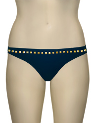 Eda Bijou Classic Brief w/ Gold Stud Detail ES107-3 - Navy