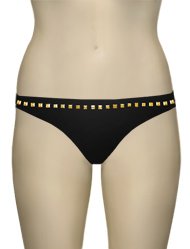Eda Bijou Classic Brief w/ Gold Stud Detail ES107-3 - Black