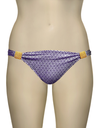 Eda Retro Bikini Brief With Sliders ES107-1S - Purple