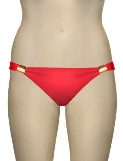 Eda Scarlett Classic Brief w/ Gold Sliders ES107-18 - Red