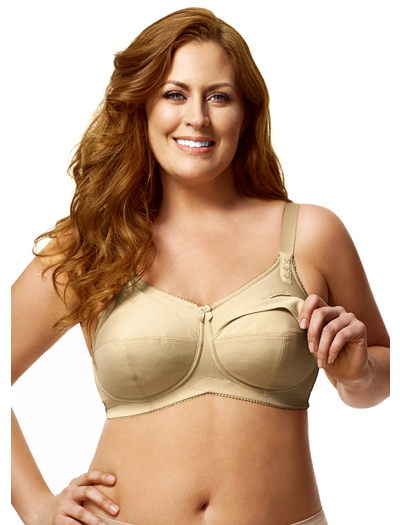 Elila Cotton Soft Cup Nursing Bra 1613 - Nude
