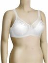 Elila Embroidered Microfiber Soft Cup Bra 1301 - White