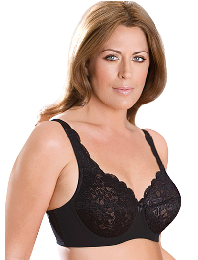 Elila Full Coverage Stretch Lace Underwire Bra 2311 - Black