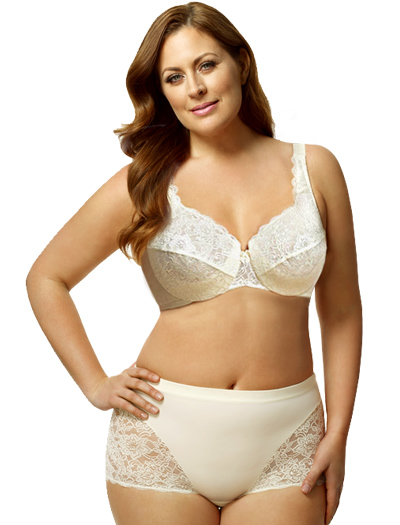 Elila Full Coverage Stretch Lace Underwire Bra 2311 - Ivory