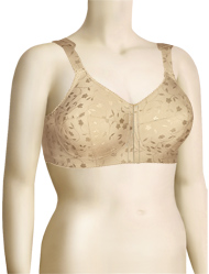 Elila Jacquard Front Hook Softcup Bra 1515 - Nude
