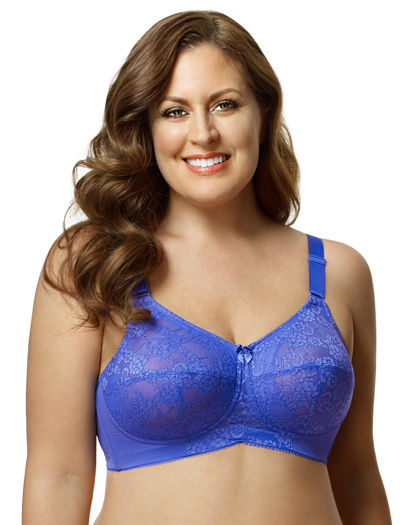 Elila Lace Soft Cup Bra 1303 - Blue