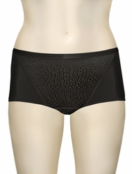 Elila Leopard Lace & Microfiber Brief 3201 - Black