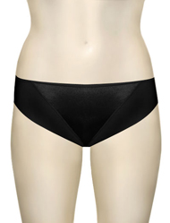 Elila Microfiber and Satin Panty 3307 - Black
