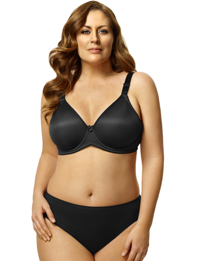 Elila Molded Spacer Underwire Bra 2411 - Black