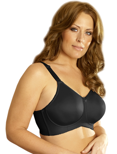 Elila Seamless Moulded Soft Cup Bra 1803 - Black