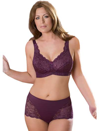 Elila Stretch Lace Soft Cup Bra 1607 - Plum