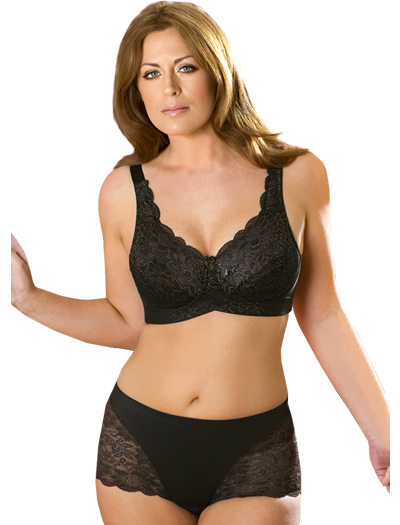 Elila Stretch Lace Soft Cup Bra 1607 - Black
