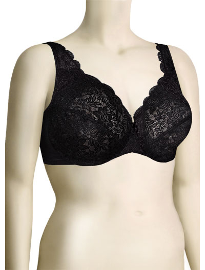 Elila Stretch Lace Underwire Bra 2709 - Black