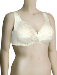 Elila Stretch Lace Underwire Bra 2709 - Ivory
