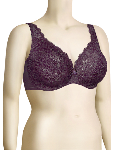 Elila Stretch Lace Underwire Bra 2709 - Plum