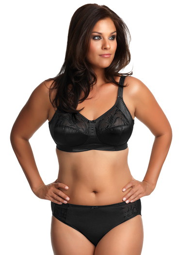 Elomi Caitlyn Soft Cup Side Support Bra EL8033 - Black