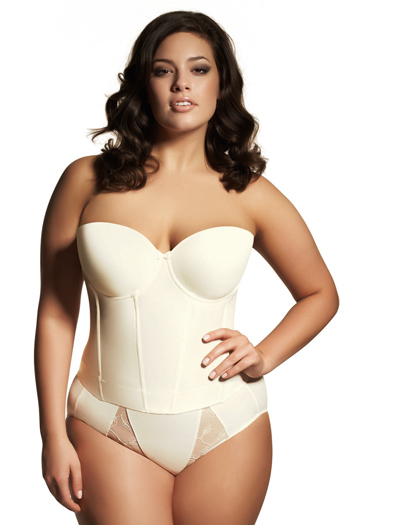 Elomi Smoothing Underwire Molded Bustier EL1231 - Ivory