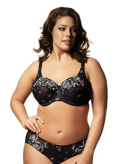 Elomi Tamarie Underwire Side Support Bra EL8020 - Black