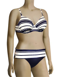 Fantasie Biarritz Underwire Gathered Full Cup Bikini Top FS5733 - Midnight