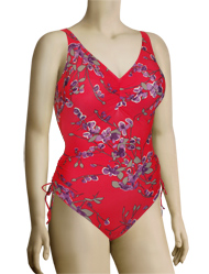 Fantasie Kyoto Underwire V-Neck One Piece Swimsuit FS5788 - Lotus Blossom